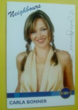 Neighbours Carla Bonner autograph hand signed photo Cast Fan Card Steph Scully