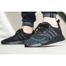 ADIDAS NMD R1 RUNNING SHOES TRIPLE BLACK S31508 MENS SIZE 9