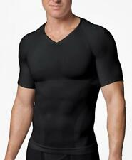 SPANX Black V-Neck Mens Compression T-Shirt sz XL