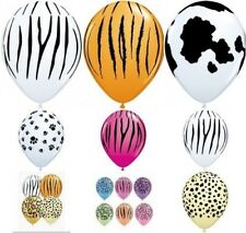 "Qualatex 5 x 11"" Animal Print Latex Balloons Suitable for air or helium"