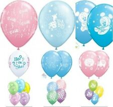Qualatex 6 Helium/Air Latex Balloons Baby Shower/New baby Party Decorations