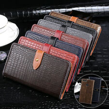 Luxury Crocodile Skin PU Leather Flip Wallet Stand Case Cover For Xiaomi Phones
