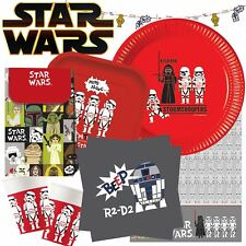 Disney Star Wars Childrens Birthday Party Tableware Strormtrooper Decorations