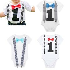 Infant Baby Toddler Boys Jumpsuit Bodysuit Cotton Romper Outfit Set 12-24 Months