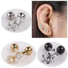 Stud Earrings 2 Pieces Gold Silver Black Surgical Stainless Steel Earring Stud