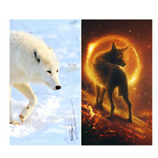 DIY 5D Diamond Embroidery Painting Wolf Cross Stitch Kit for Home Room Decor