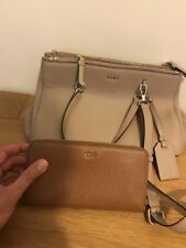 Dkny chelsea satchel  Bag  Nwt.   Beige with 3 compartments and matching purse