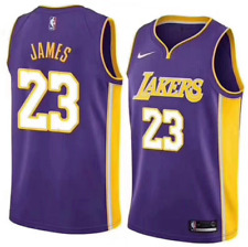 NWT Men's Los Angeles Lakers LeBron James #23 Purple Swingman Jersey Size S-XXL