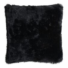 Super Soft Black Faux Fur Cushion Covers Cuddly Shaggy 43x43cm 17x17