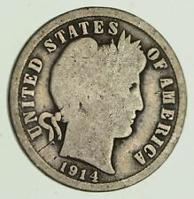 1914 Barber Liberty 90% Silver United States Dime *371