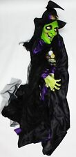 Morris Gothic Hang Up 6 Foot Witch with Sound Halloween Decoration SS74164