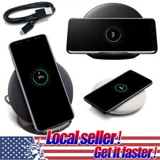 Qi Wireless Fast Charger Charging Pad Stand Dock For Samsung Galaxy S8+iPhone X