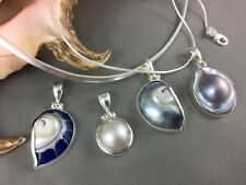Shell Pendants Necklaces Mother Of Pearl Sterling Silver 4 Styles Surf Jewelry