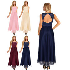 Womens Pretty Long Bridesmaid Dress Evening Party Formal Gown Wedding Dresses
