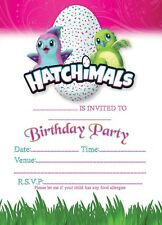 HATCHIMALS EGG BIRTHDAY PARTY INVITATIONS INVITES  WITH OR WITHOUT ENVELOPES
