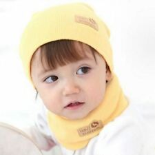 Spring Autumn Winter Baby Cap Girls Boys Children Knitted Hat and Scarf Set Kids