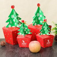 10/20 Merry Christmas Tree Bell Party Paper Favour Gift Candy Cupcake Bags Boxes