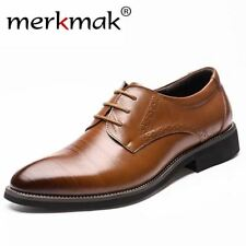 2017 New High Quality Genuine Leather Men Brogues Shoes Lace-Up Bullock Business