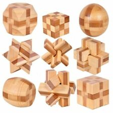 IQ Brain Teaser 3d Wooden Interlocking Burr Puzzles Game Toy For Adults Kids New
