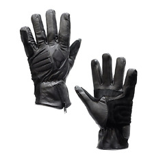 Men Motorcycle Padded Leather Gloves Rider Biker Riding Racing Black Size S-3XL