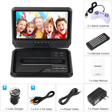 """Excelvan 9"""" Mini Portable 16:9 DVD Player 270° Swivel Screen Support USB SD Card"""