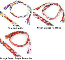 1pc White DIY Stackable Crocheted Knitted Knotted Waved Cord Ribbon Bracelet ...