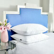 Puredown® 2 Pack Premium White Goose Feather Pillow, Wave Quilted Design