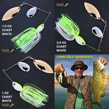 Bassdozer spinnerbaits INDIANA WILLOW Chartreuse White spinner bait baits