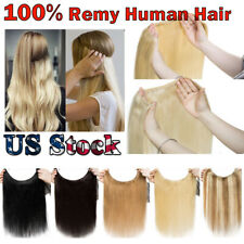 Thick Clip In Pony Tail 100% Remy Human Hair Extensions Wrap Clip On Ponytail RW
