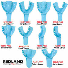 REDLAND Impression Trays #6 Small Lower Perforated 12 Pieces/Bag -FDA