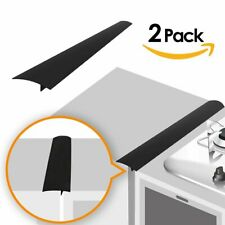 2 Pk Silicone Kitchen Stove Counter Gap Cover Long & Wide Gap Filler By Linda