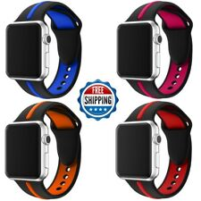For Apple Watch Series 4/3/2/1 38/42mm Replacement Silicone Sport Band Strap