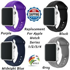 Replacement Silicone Band Strap 38/40/42/44 For Apple Watch Sport Series 1/2/3