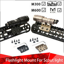 Tactical Flashlight Mount with 20mm Rail For M300 M600 Scout Light M-LOK Keymod