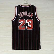 Michael Jordan Chicago Bulls #23 Mens Stitched Stripe Basketball Jersey S-2XL