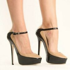 Fashion Splice Color Round Toe Ankle Strap Women Pumps Nightclub Stage Shoes Hot