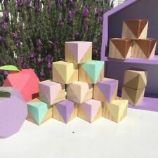 Wooden Blocks Wood Cube Shelf Display Wedding baby Shower Decor Ornaments Blocks