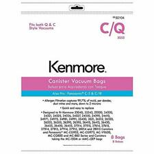 Genuine Kenmore 50104 8 Pack Style C/Q Canister Vacuum Bags- New