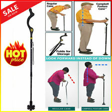Posture Walking Cane Campbe with Adjustable Heights As Seen on TV Portable Light
