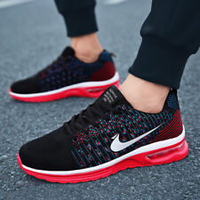 Mens Sport Shoes Fly Knitted Running Sneakers Breathable Mesh Casual Shoes