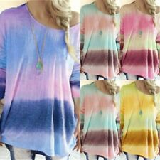Womens Top Blouse Casual Shirt T-Shirt Crew Neck Pullover Long Sleeve Loose