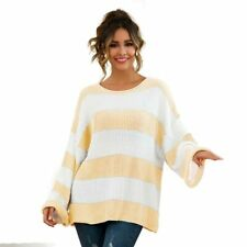 Loose Knit Shirt Pullover Sweater Jumper Knitwear Casual Knitted T-Shirt