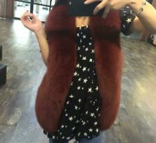 Womens Winter Short Slim Sleeveless Faux Fur Warm Vest Coat Outerwear Waistcoat