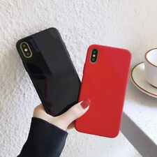 Pure Color Tempered Glass Back Phone Case For iPhone XS Max X 7 8 Plus 6s XR