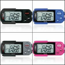 Walking 3D Pedometer Clip Strap Free eBook 30 Days Memory Accurate Step Counter