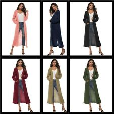 Loose Sweater Cardigan Long Jacket Womens Long Sleeve Knitted Casual Outwear