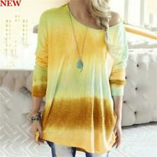 Loose Casual Long Sleeve T-Shirt Pullover Top Womens Blouse Shirt Crew Neck