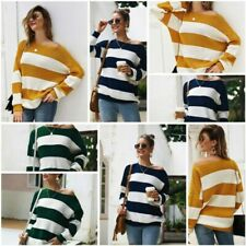 Casual Tops Sweater Knitted Knitwear Long Sleeve Knit Shirt Jumper Loose T-Shirt