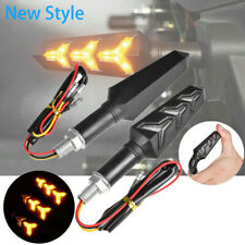 4x 2x Motorcycle LED Turn Signal Lamp Sequential Flowing Indicator Lights Amber