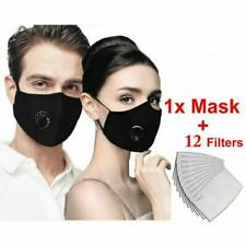 Reusable PM2.5 Anti Air Pollution Face Shield Cover With Respirator Filters
